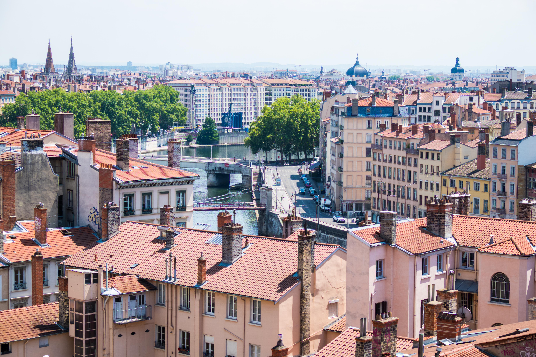 gezicht op Lyon